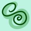 caramelchameleon: heavily stylized drawing of a chameleon (signature)