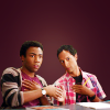 lorax: Troy and Abedfrom Community, fistbumping (Comm - Troy & Abed Fistbump)