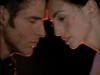 livilend: Crichton and Aeryn from the show Farscape. Their faces are in profile and they're touching their foreheads together with great emotion (farscape)