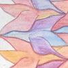 pilfered_words: Escher bird tessellation, colored with watercolor pencil (escher-bird)