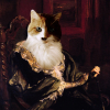 hopelesse: longhair calico cat head photoshopped onto the body of a Victorian lady; my Truest Forme (Default)