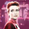 megatheriid: Kira Nerys from Star Trek: Deep Space Nine on a bright pink background (Kira Nerys)