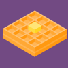 wafflelate: a waffle emoji on a purple background (waffle)
