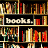 morganthetactician: photo of books on a bookshelf; 'books' is written in a blank space (books)