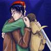 hpuckle: The Silver Doe - Art By Titanic ([HP] RH | Locket Hug)