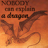 in_joke_taken: Orange dragon flying on an orange background.  Text: Nobody can explain a dragon (Dragon)