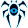 pokestine: A stylised blue spider with an eye for a body. (Dimir)