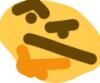 dragonlady7: the thonking emoji (a poorly drawn version of the thinking emoji) (thonking)