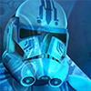 skygiants: clone helmet lit by the vastness of space (clone feelings)