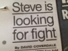 cyborgtopus: Steve is looking for fight (fighty righteous lad, steve)