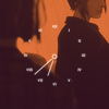 propergoffick: silhouettes of the girls from Life Is Strange S1, overlaid with a white twelve-hour clock face (life is strange)