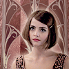 auroracloud: Clara Oswald from Doctor Who S8 episode Mummy on the Orient Express, 1920s Art Deco style image (Clara art-deco style)