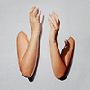 la_dissonance: two disembodied arms against a light background (Default)