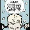stepps: comic Clint Barton plugging ears and lamenting spoilers ([mcu] lalala spoilers!)