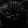 lexidius: A greyscale icon of the Cheshire Cat (Default)