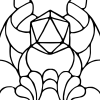 kesbeacon: d20 on stylised background (pic#12768675)