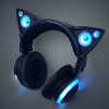 ateanalenn: a picture of the blue lighted headphones with cat ears (music cat headphones)