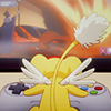 adrianners: Kero-chan hunched over a video game controller (Kero gamin')