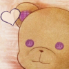 alias_sqbr: Teddy bear with purple details with a love heat. From Nameless: the one thing you must recall (nameless)