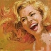breathedout: a blonde woman laughing (laughter)