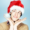 bring_me_sugar: Andy Samberg in a Santa Hat! (dorking out - Mythbusters - by ponyboy)