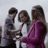 greywash: Eliot, Quentin, and Margo, right before Margo crowns Quentin. (eliot * margo * quentin)