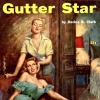 femslashfrivolity: gutter star, standing blonde woman stroking the cheek of a seated redhead, looking like they're about to have a real good time (femslash)