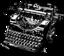 shy_magpie: Black & white typewriter (Fanfic)