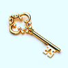 dragonofeternal: a photo of a golden key (00 key)