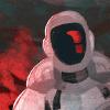 esteefee: painting of murder bot (murderbot)
