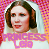 electric_heart: Princess Leia with pink and yellow dot background (Princess Leia)