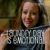 "deird1: Fred crying over clothes, with text ""laundry day is emotional"" (Fred laundry)"