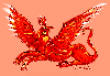 thirteenie: Red griffin against a a pink-ish background (Red griffin)
