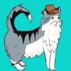 muttthecowcat: mutt in a cowboy hat (mutt)