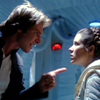 pearwaldorf: han and leia in the hallway on hoth. he points his finger at her and she looks annoyed (sw - han leia hoth)