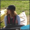nause: me on a kayak, but not yet in the water! (me sitting in a kayak)