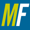 metafilter: The letters M and F, in italic, on a blue background.  The M is yellow and the F is white. (Default)