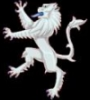 cymru: Silver Heraldic Lion with blue tongue facing left (Default)