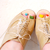 strongplacebo: Shoes with painted nails (colourful shoes)