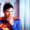 singedsun: christopher reeves as superman (superman)