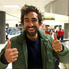 meridian_rose: Actor Gregg Chillin facing the camera smiling with two thumbs up (thumbs up)