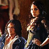 meridian_rose: S1 promo from Black Sails, John Silver (Luke Arnold) sits in bottom corner, next to him stands Max (Jessica Parker Kennedy) (black sails)