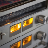 freshbakedlady: close-up photograph of radio tuner dial (tune in)