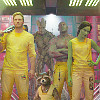 snickfic: Guardians of the Galaxy in yellow prison uniforms (gotg)