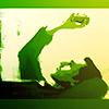 snickfic: Loki lying on his back in green tones (Loki)