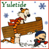 flyakate: Calvin and Hobbes in snow (Yuletide)