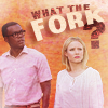 alithea: Eleanor and Chidi from The Good Place with What the fork? text (What the fork? (made by tinny))