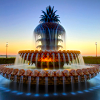thirteenie: Fountain with a blue sky in the background (Fountain 02)