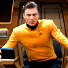 nenya_kanadka: Anson Mount's Christopher Pike in the captain's chair (ST Chris Pike captain's chair)