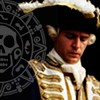 purpleyin: James Norrington in uniform icon with dark background and overlay of cursed treasure coin (pirate)